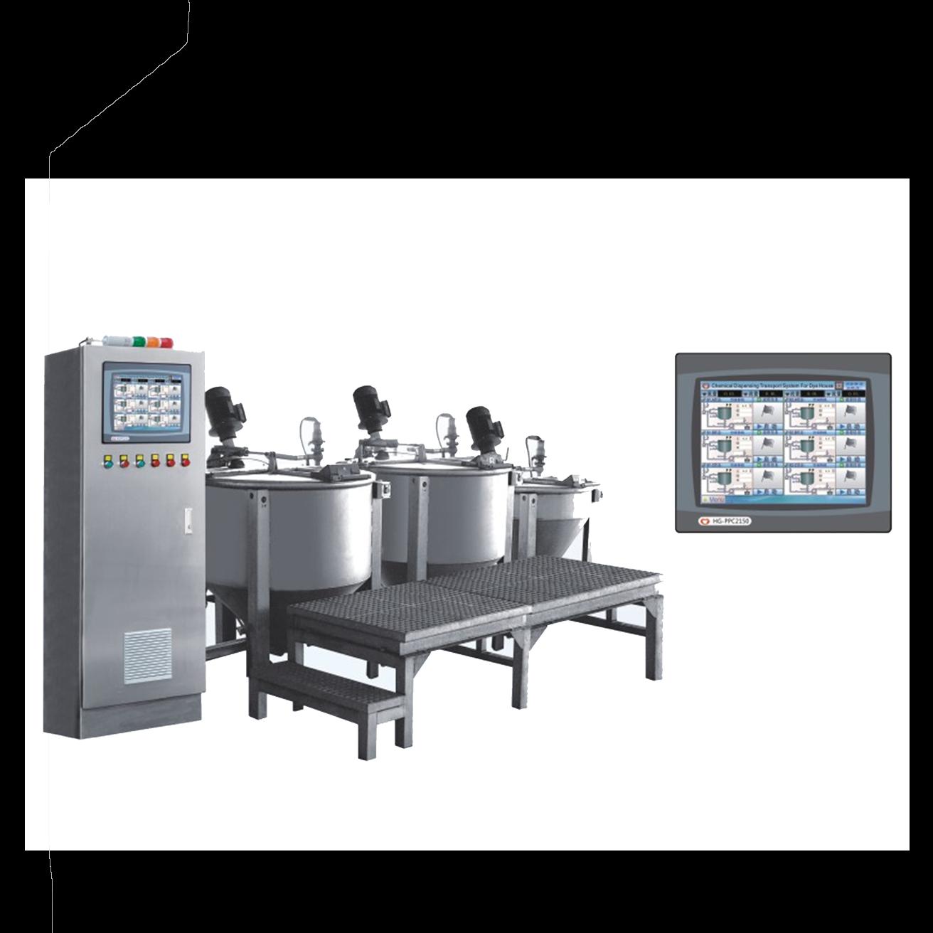 染料助剂自动配料输送系统